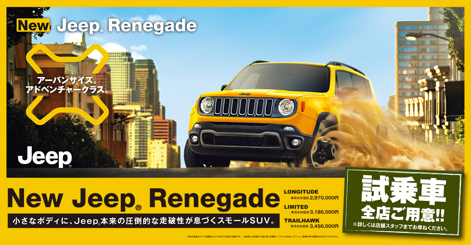 New Jeep Renegade DEBUT